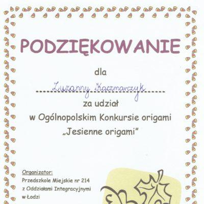 dyplom Zuzia